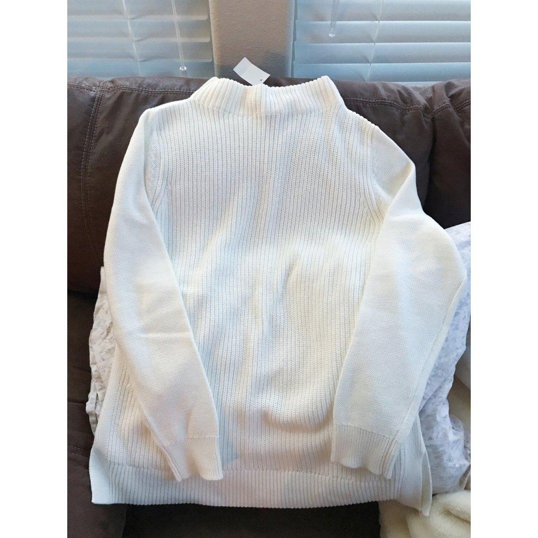 Loft白色纯棉长袖