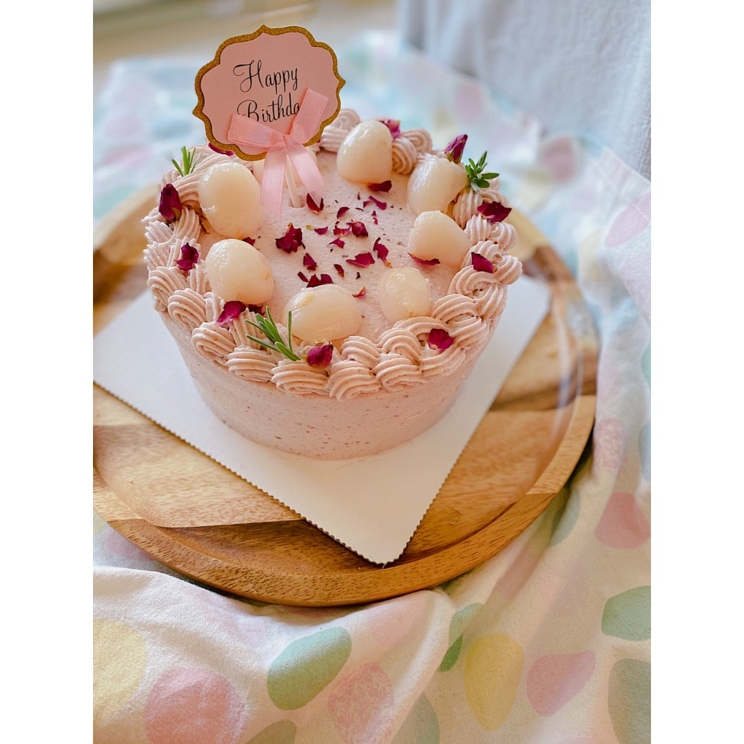 🌹荔枝覆盆子蛋糕🎂