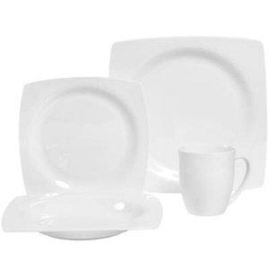$29Dario 16-Piece Bone China Dinnerware Set in White