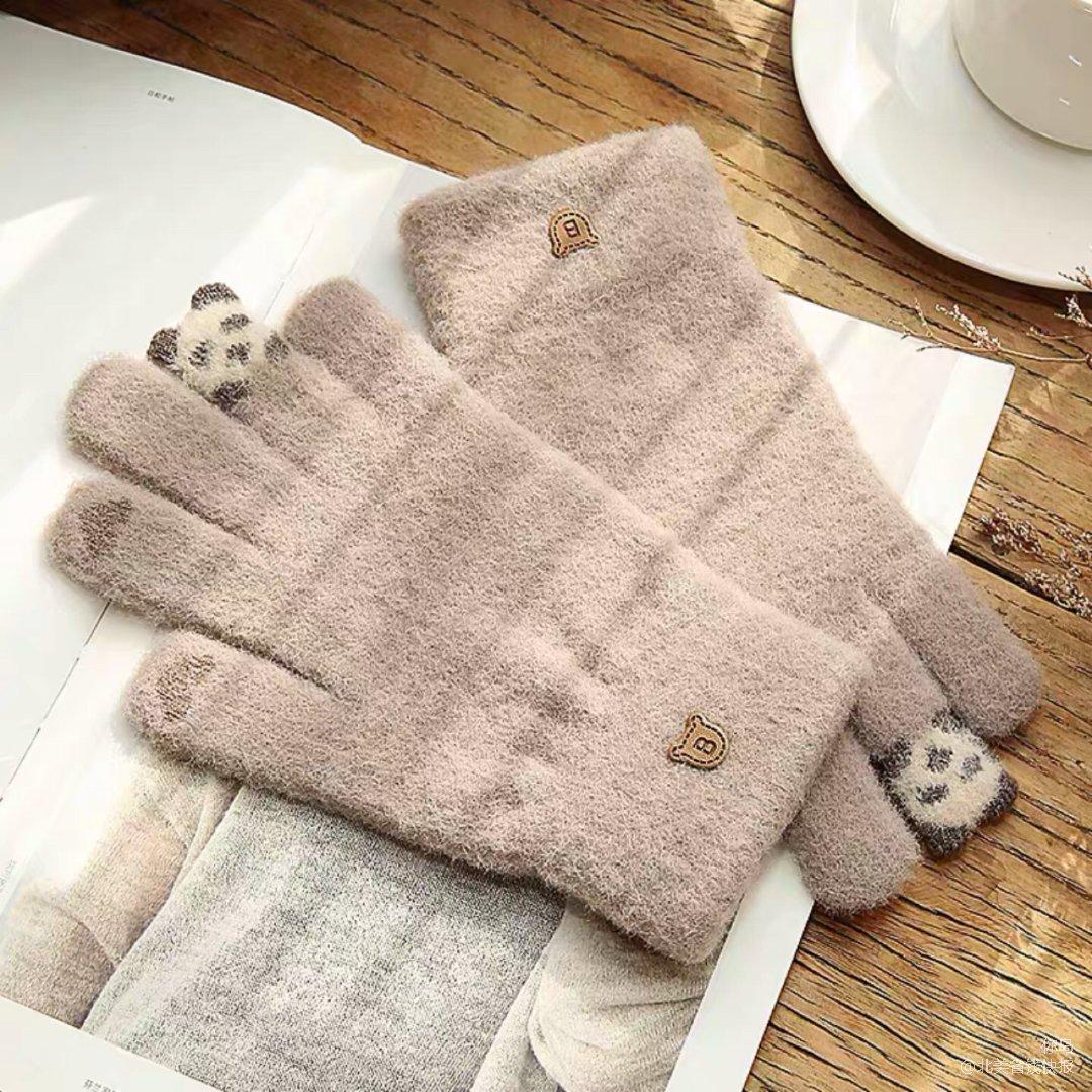 # 寒冬必备利器 / 可以触屏的毛绒手套
