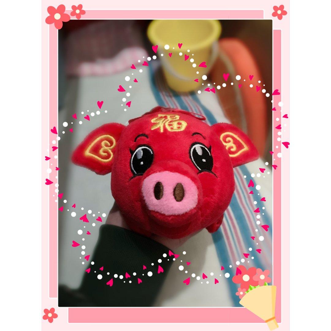 红色福猪玩偶!