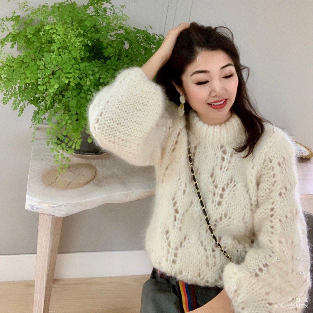 Day 20 穿搭~美美的白色毛衣...