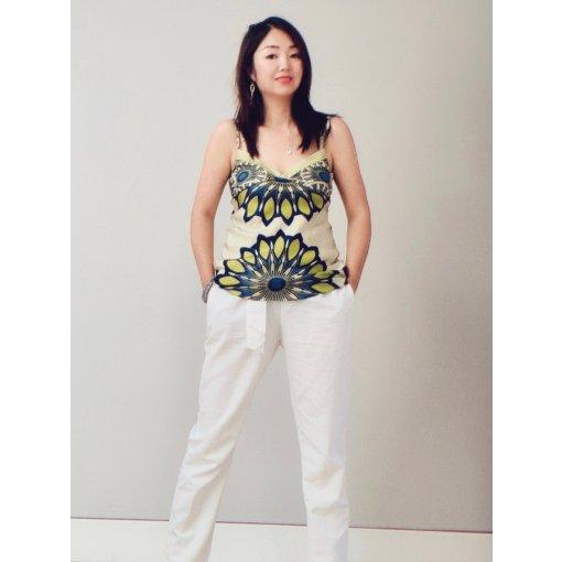 穿搭  白色阔腿裤单品的重复穿搭 (2休闲穿搭)