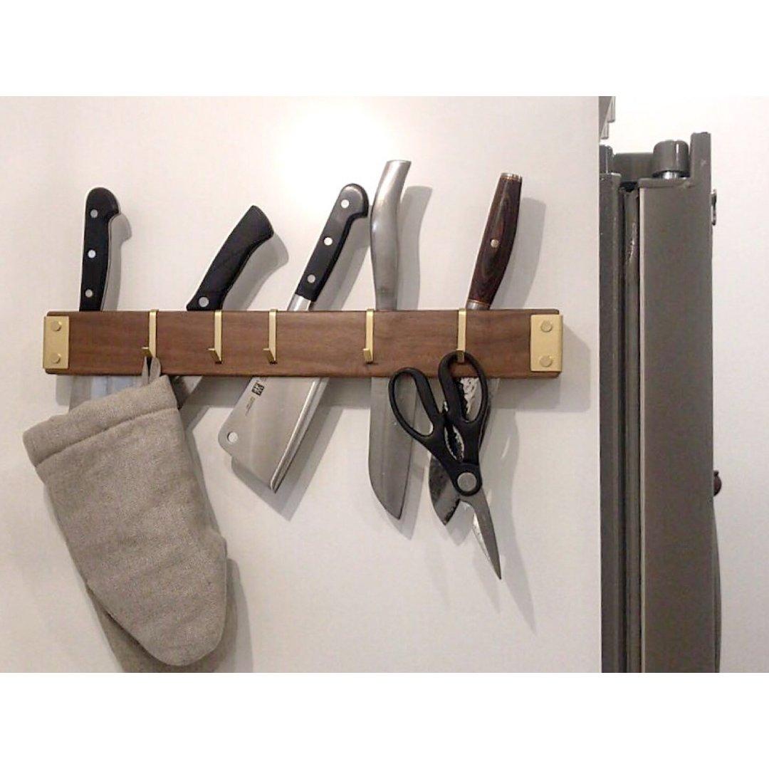 胡桃木刀架