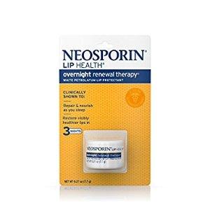 $6Neosporin Lip Health Overnight Healthy Lips Renewal Therapy Petrolatum Lip Protectant Pack of 2