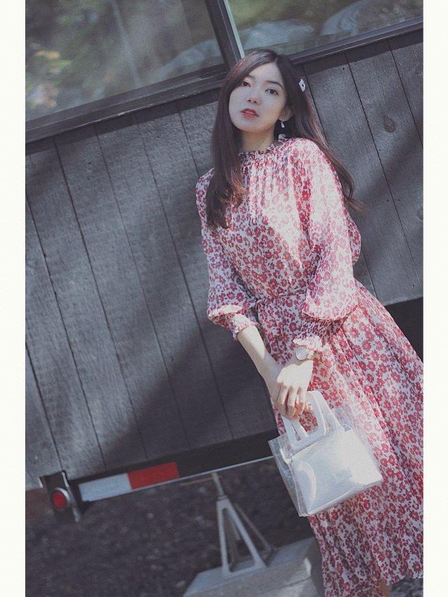 穿搭 | 秋日韩风小姐姐的碎花裙💃🏻💃🏻