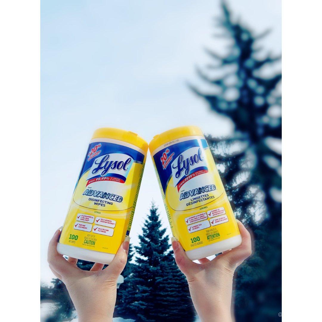 😷Lysol 消毒湿巾👉清洁去油 消毒杀...