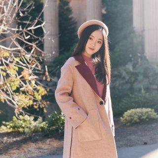 冬令时记得穿一条温暖大衣❄️