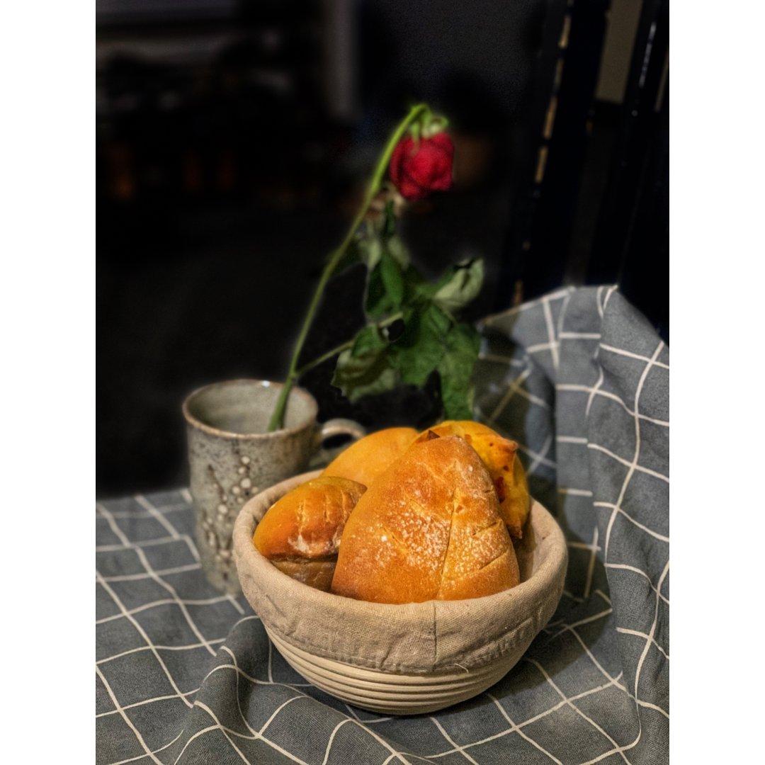 米君厨房|早餐面包囤粮:南瓜软欧包...