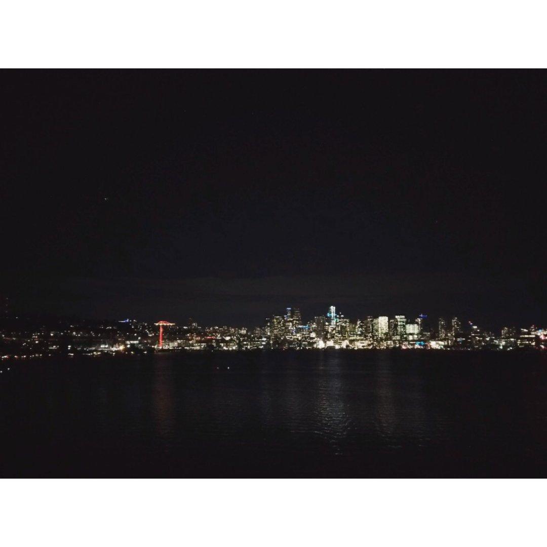 西雅图旅行 夜景 Gasworks...