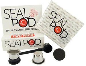 Amazon.com: Reusable Nespresso Capsules - Sealpod Stainless Steel Refillable Pods for Nespresso Machines (OriginalLine Compatible) (2, 100 Lids): Kitchen & Dining
