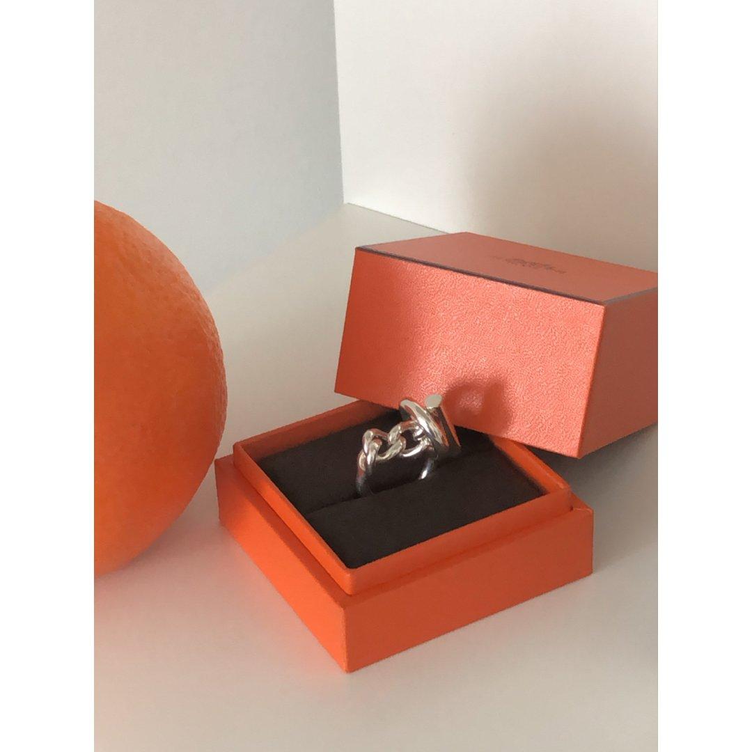 美丽银饰戒指分享|Hermes |...