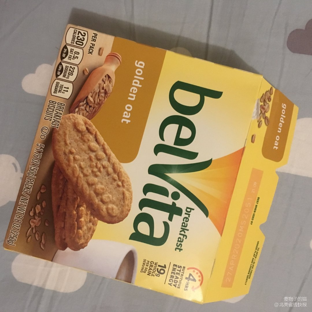 零食分享   Belvita燕麦饼干
