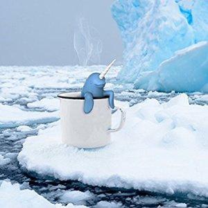 $6 (原价$10.95 )史低价:Fred & Friends 独角鲸造型茶滤 创意泡茶伴侣