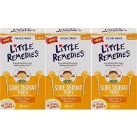 Little remedies 儿童天然蜂蜜润喉棒棒糖 10支 3盒装