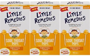 $9.36Little Remedies Sore Throat Pops with Real Honey for Kids 3+ | Pack of 3 | Soothing Pops that Calms Fiery Throats @ Amazon