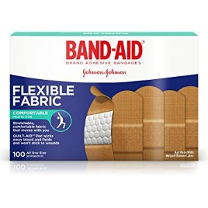 $4 Band-Aid Brand Flexible Fabric Adhesive Bandages For Minor Wound Care, Assorted Sizes, 100 Count