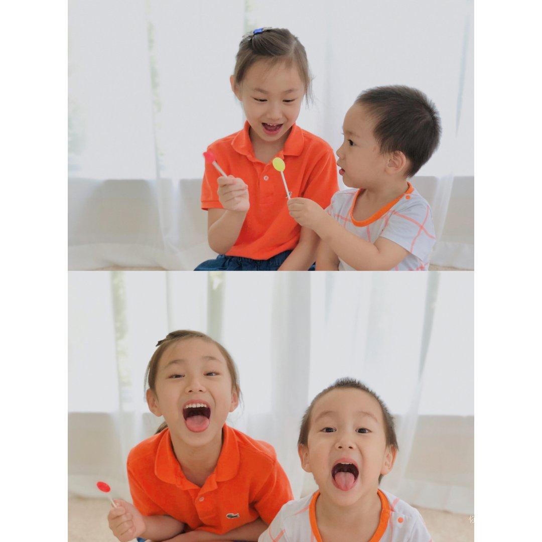 🌈彩虹挑战之橙色🧡一起吃棒棒糖的快乐🍭