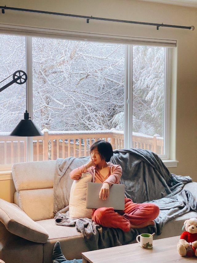 西雅图终于下雪啦,另附在家拍照小窍...