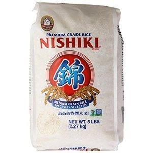 $5.81 包邮补货:Nishiki 最高级特选米5磅  喷香的白米饭 家的味道