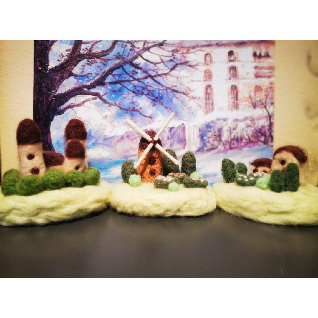 晒晒我做的羊毛毡手工—小城堡