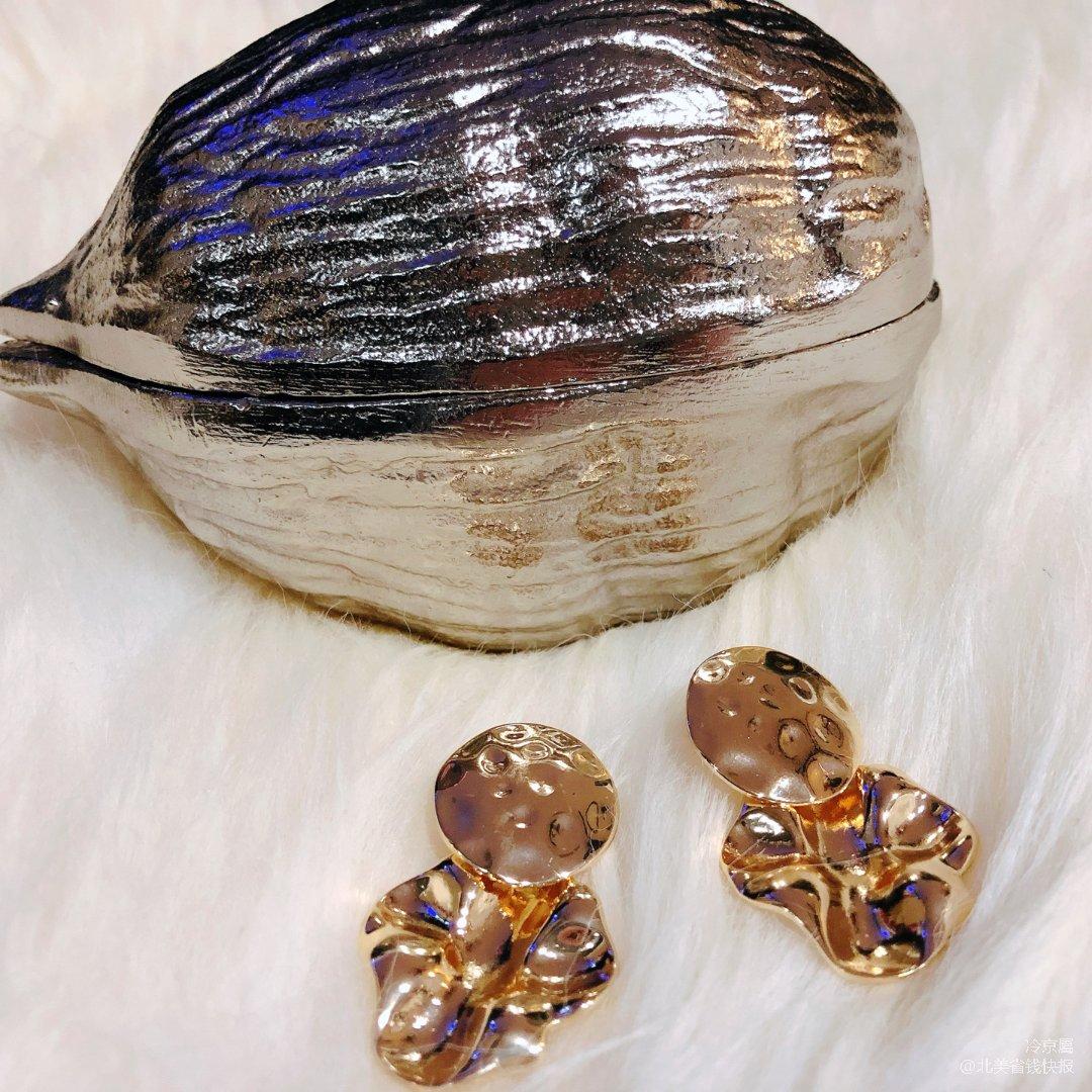 2⃣️【H&M耳环】复古金色耳环