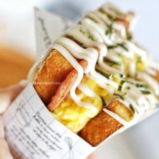 风靡韩国的厚蛋烧三明治来一个嘛?😋...