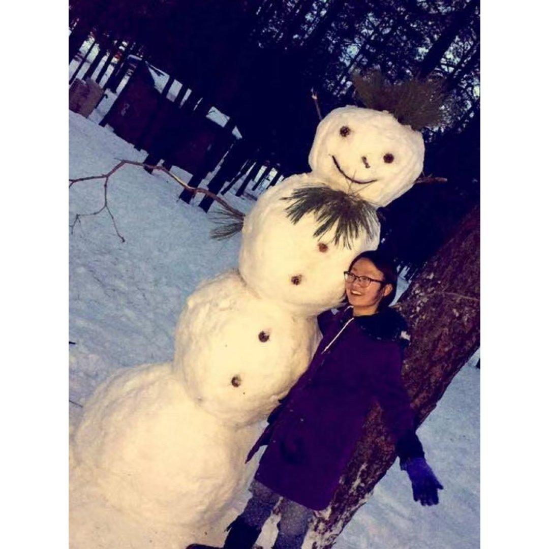 冬天就是要堆一个雪人