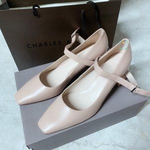 小香风拼色鞋