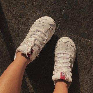 Skechers老爹鞋-小粗腿也能有春天...