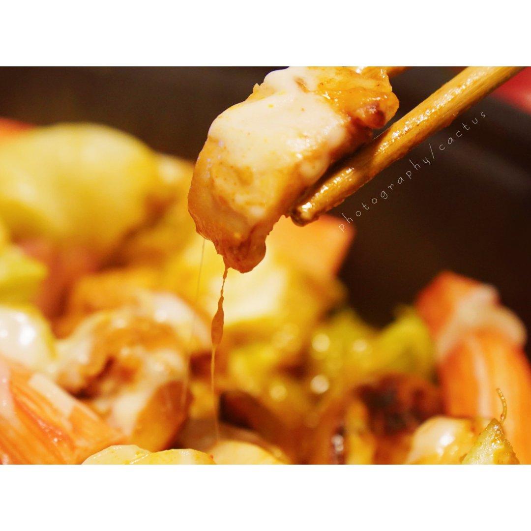 韩餐狂热爱好者 春川辣炒鸡+汤汁炒饭