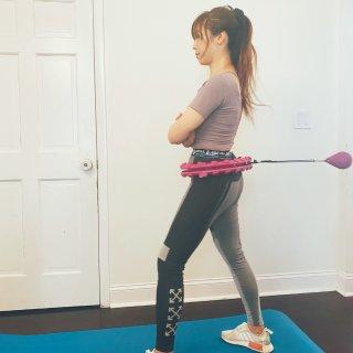 宅家運動就是這麼簡單!Dalinda健身按摩呼拉圈