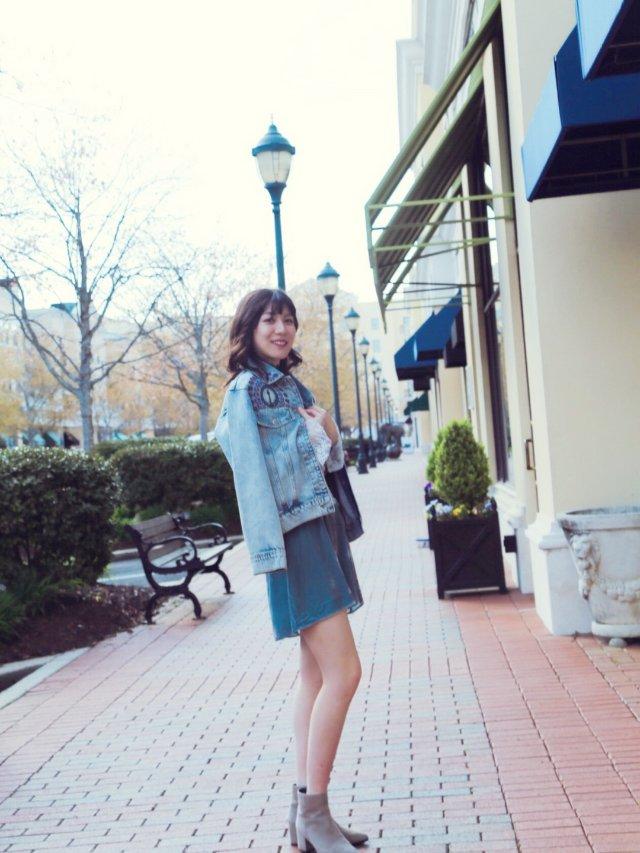 粉蓝系/丝绒裙的春天