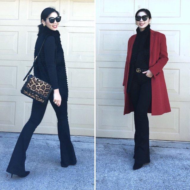 最爱就是红色大衣,但是不如羽绒服一...
