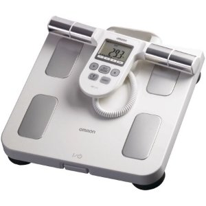 $53Omron Hbf-510w Full-body Sensor Body Composition Monitor & Scale With 5 Fitness Indicators