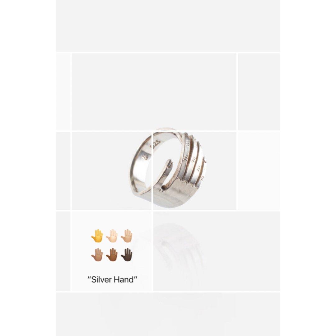 银の手|925银手纹戒指