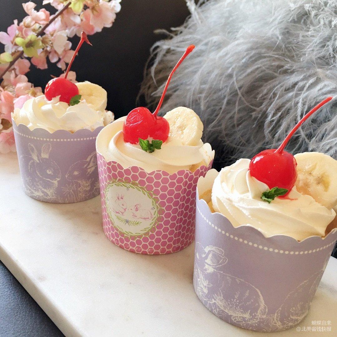 孩子们的最爱的海绵纸杯小蛋糕......
