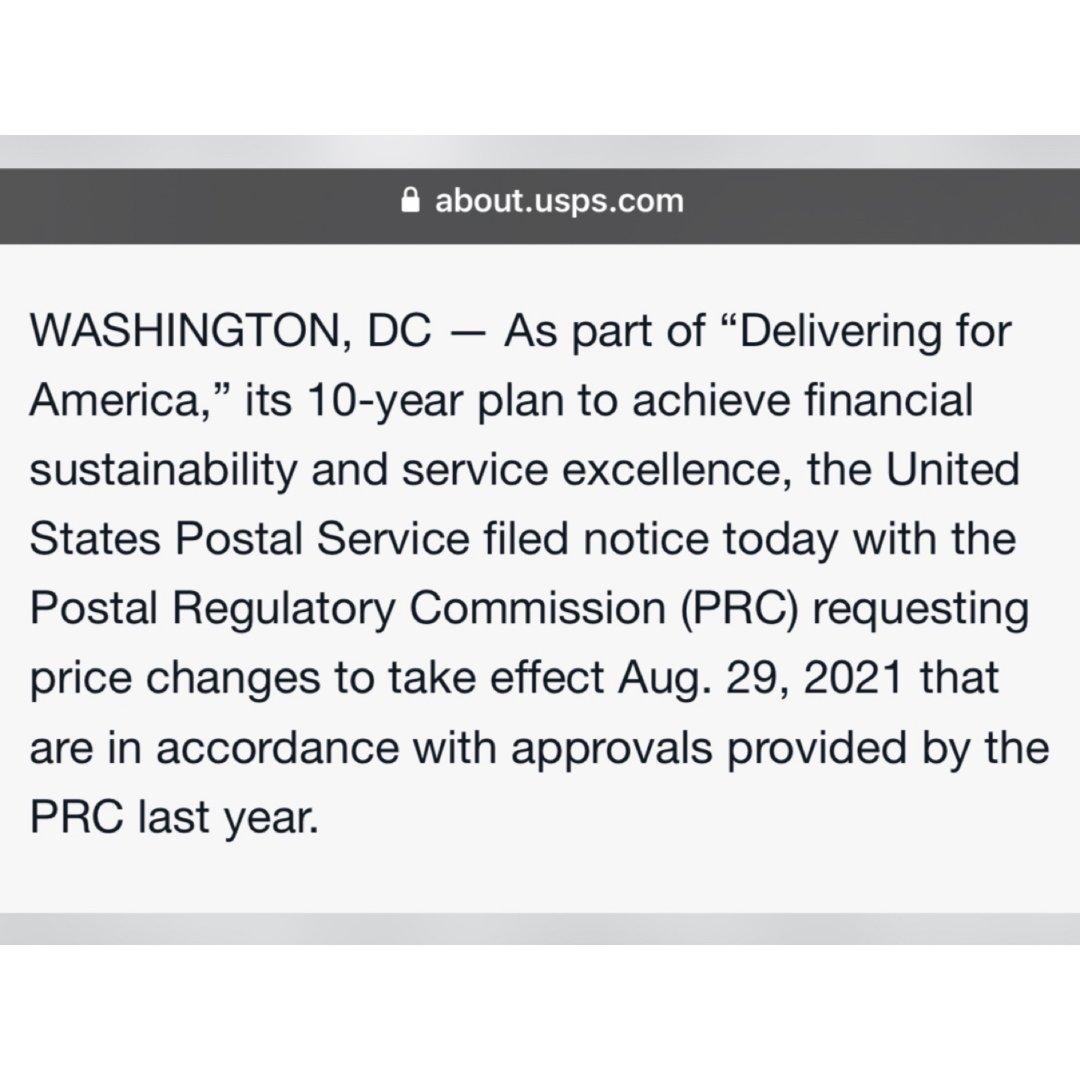郵政資訊|USPS 今年第二次調漲郵資 ...