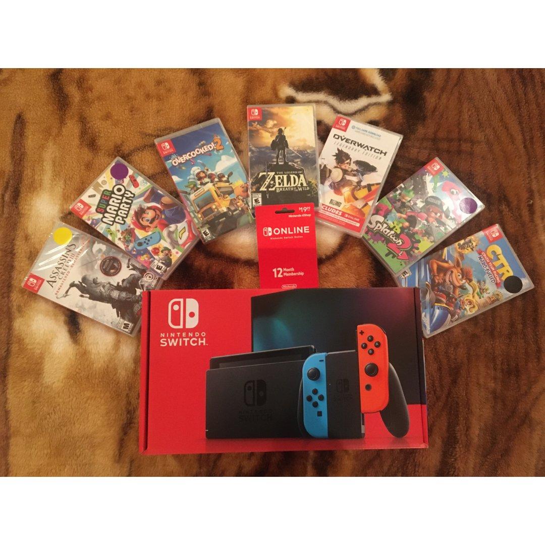 任天堂switch游戏机+游戏卡带🥳