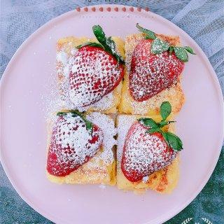 元气早餐🍓草莓花生酱西多士!...