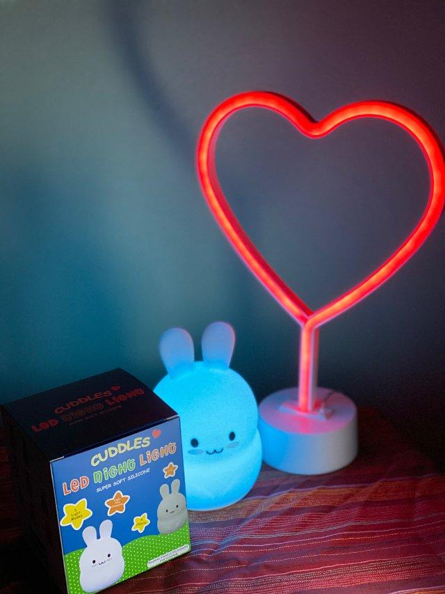 好物推荐:萌胖兔兔🐰变色夜灯