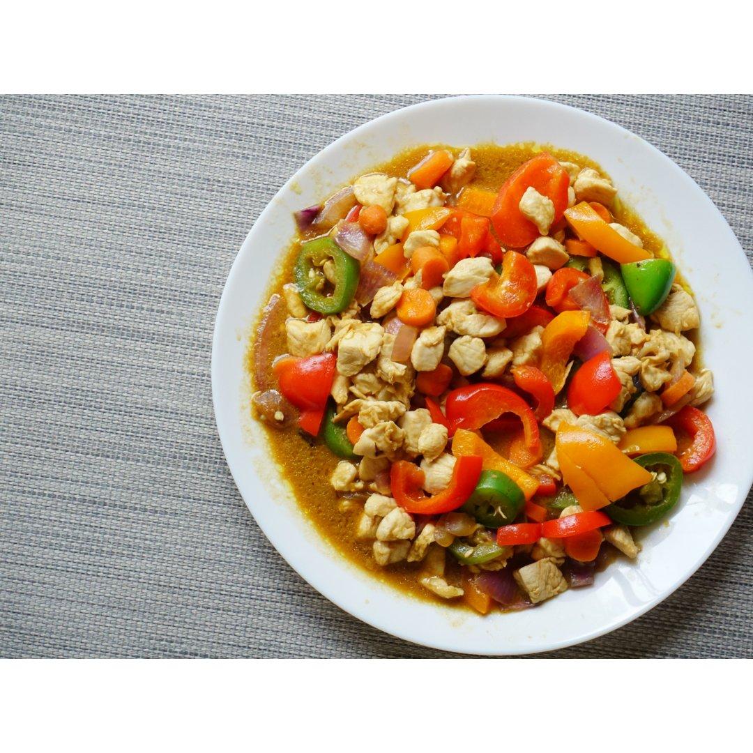 超级下饭的彩椒炒鸡胸肉,快手又好吃