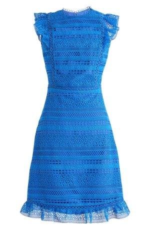 J.Crew Cap Sleeve Ruffle Lace Dress | Nordstrom