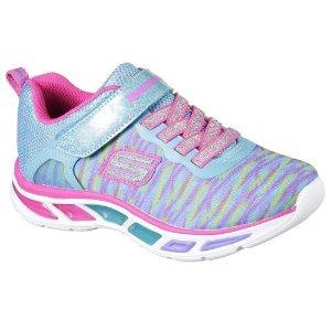 $19Skechers Girls' S Lights Lightbeams Colorburst Pink Sneaker
