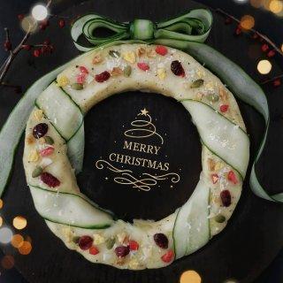 周四下午茶   能吃的土豆泥圣诞花环🎄...