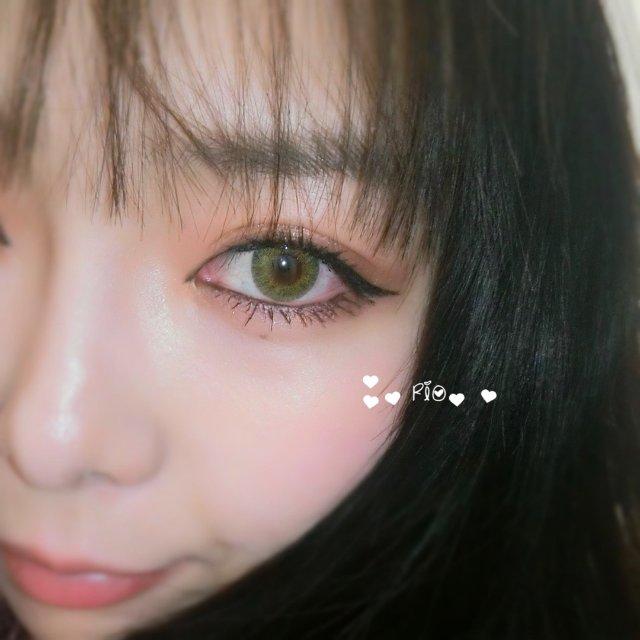 绿色美瞳 真好看