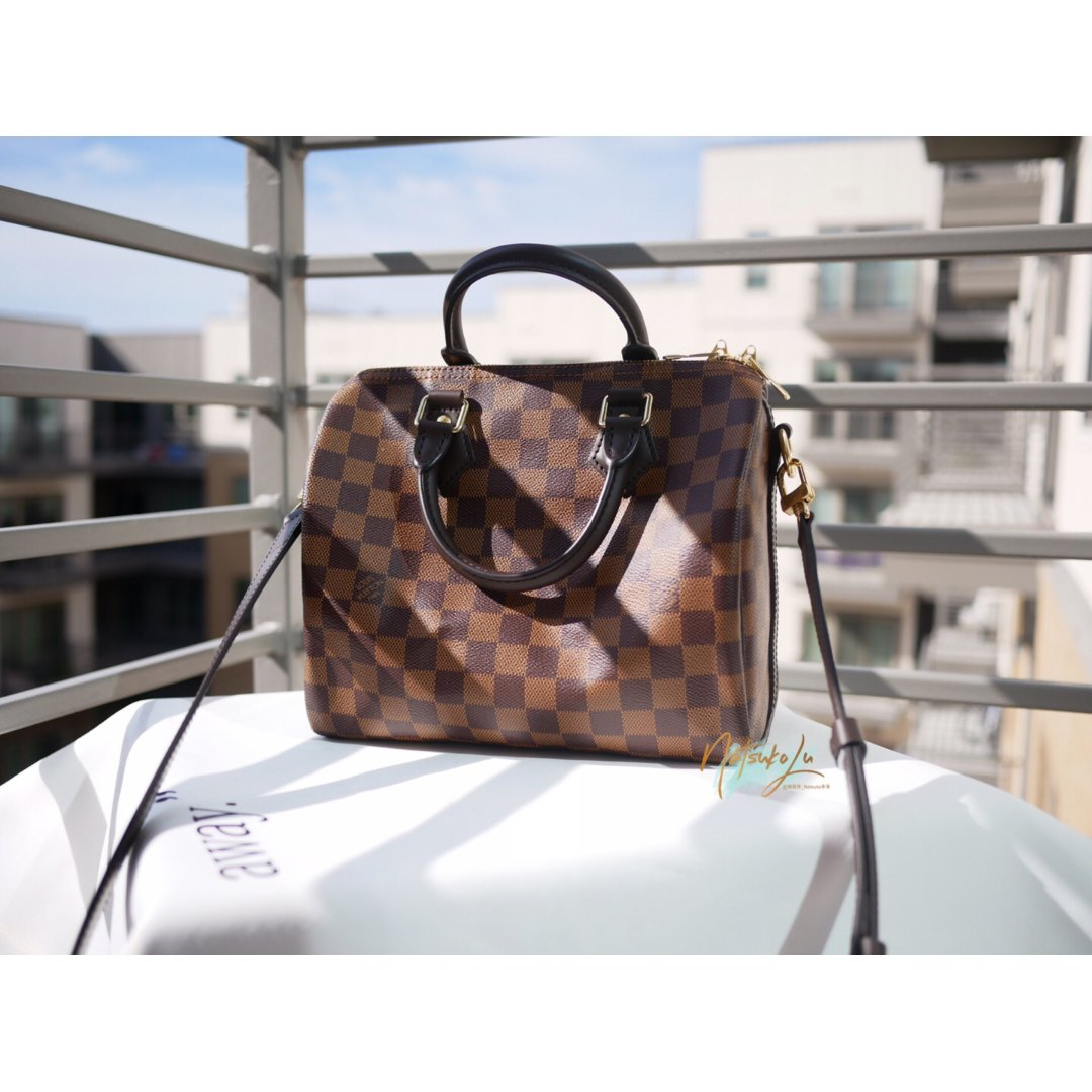 Louis Vuitton 棕棋盘...