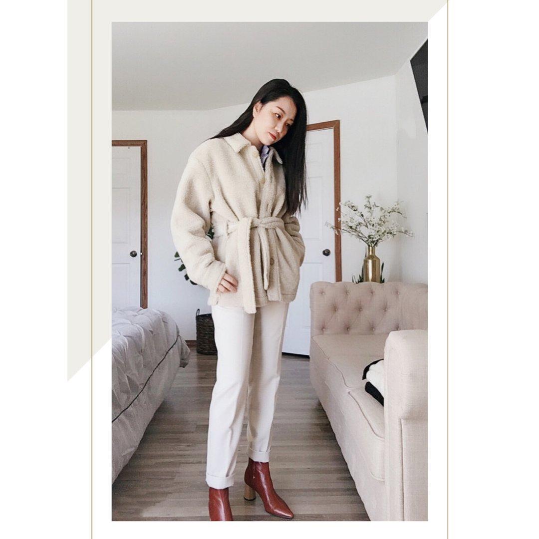 冬季穿搭 |Uniqlo毛茸茸的羊驼外套