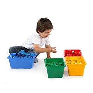 $9.45 (原价$19.99)Tot Tutors 儿童玩具收纳盒,4个