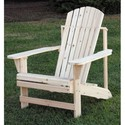 Unfinished Fir Adirondack Chair